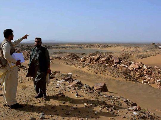 gold and copper mine site, in Reko Diq Balochistan Pakistan