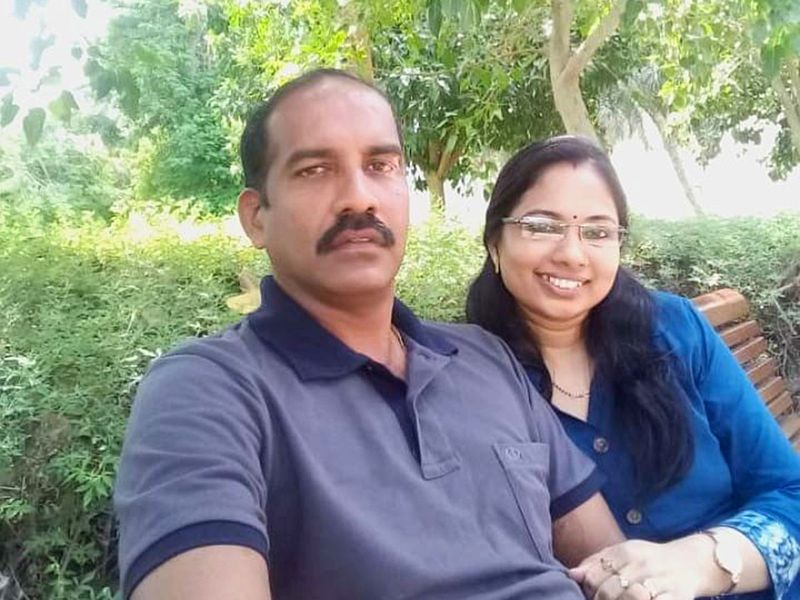 NAT Crash victim Manjula Kumari with husband Pramod-1599492088961