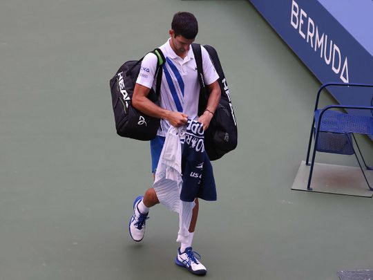 Novak Djokovic leaves the US Open under another cloud