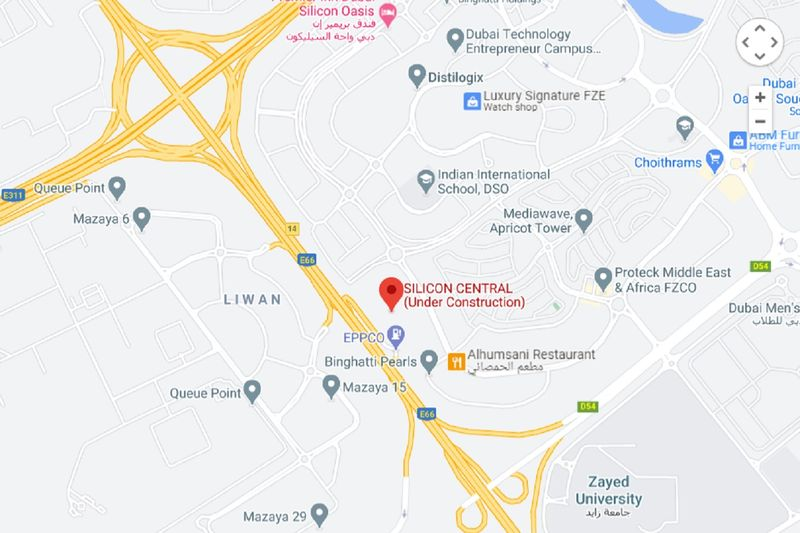 Silicon Central Dubai map