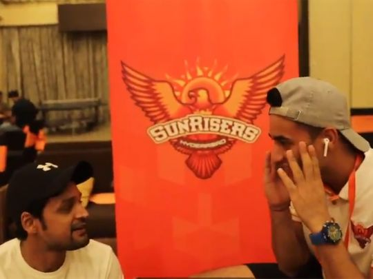 The Sunrisers Hyderabad took part in a 'Whisper Challenge'