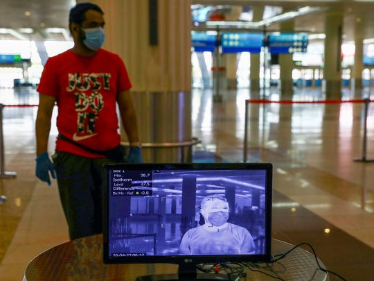 Stock Dubai airport passengers