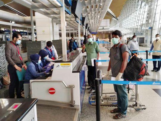 Stock India airport passengers