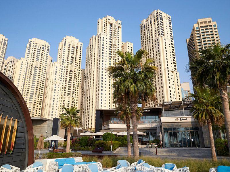 Stock JBR Jumeirah beach residence Dubai property