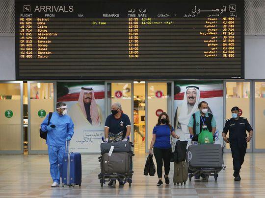 Stock Kuwait airport passengers