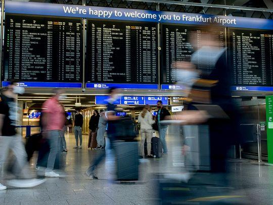 Stock airport passengers