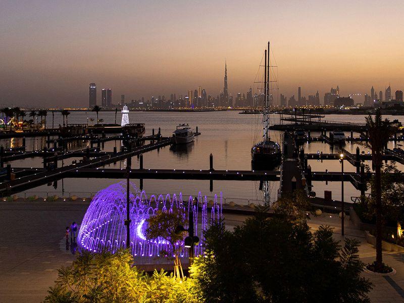 Sun set in Dubai