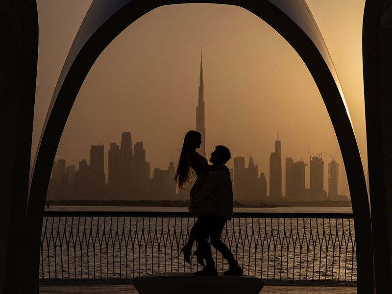 Sun set pictures of Dubai
