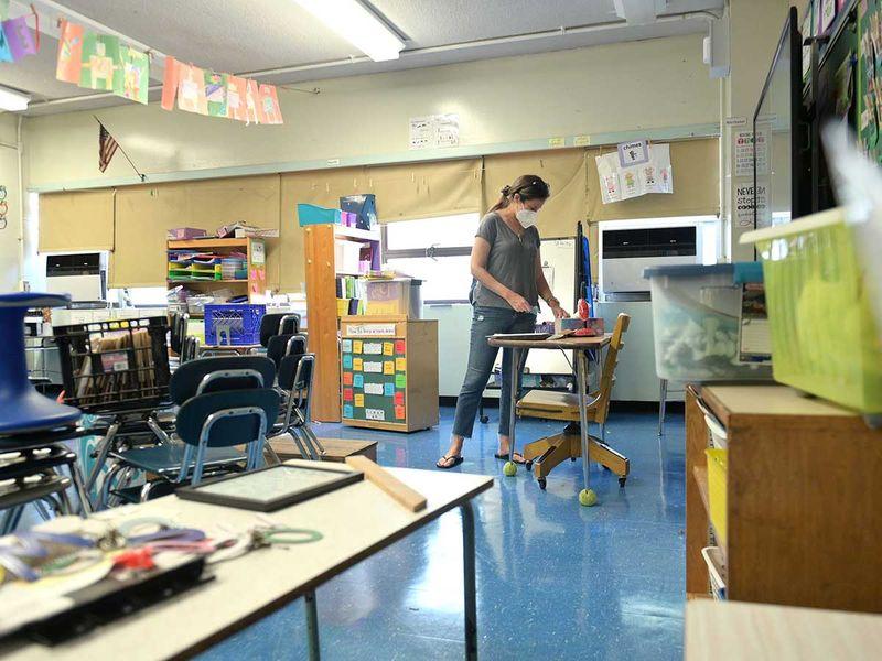 New York school classroom