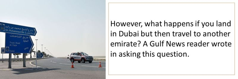 Quarantine from Dubai to Abu Dhabi