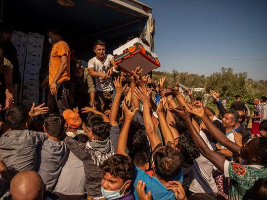 Migrants Lesbos Greece