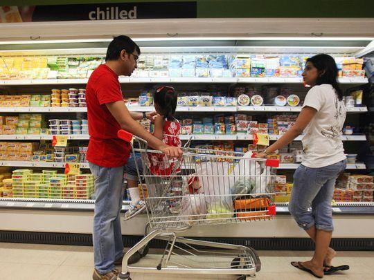 Stock India family shopping