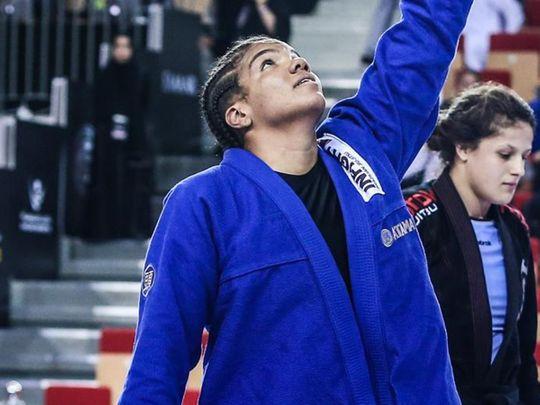 Gabrieli Pessanha won gold in Abu Dhabi Pro Championship in 2019