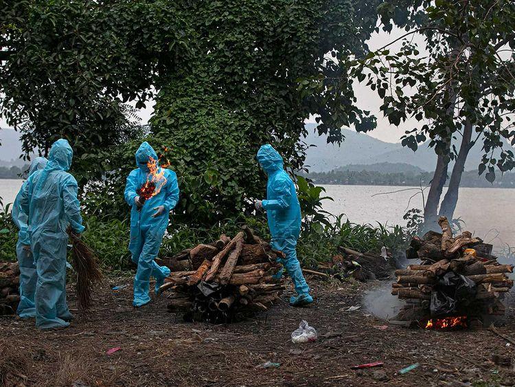 India coronavirus cremation Assam Guwahati
