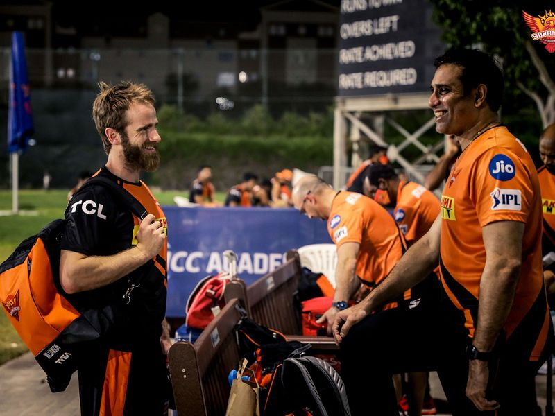 Kane Williamson arrived for his first training Sunrisers Hyderabad training session on Thursday night at the ICC Academy in Dubai.