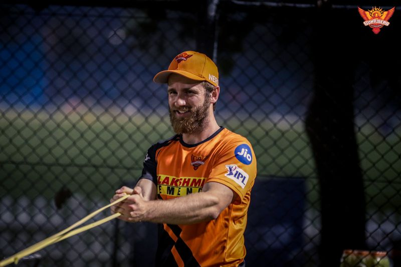 Kane Williamson in action in his first Sunrisers Hyderabad training session