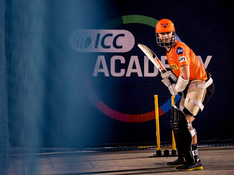 Kane Williamson trains with Sunrisers Hyderabad