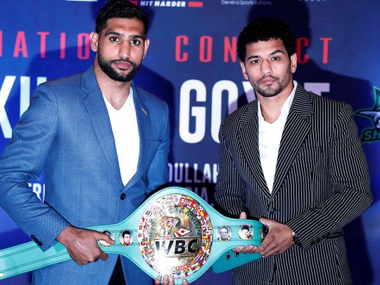 Neeraj Goyat had to pull out of an original bout with Amir Khan after getting seriously injured in a car crash