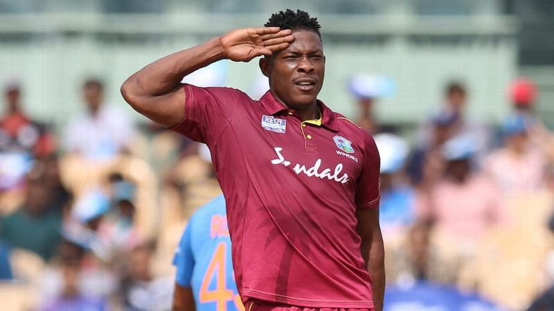 And KXIP's Sheldon Cottrell will be using his trademark salute to mark his welcome shortly