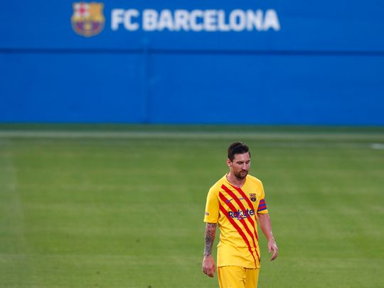 Lionel Messi played 45 minutes for Barcelona