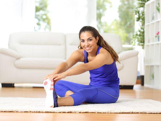 Dubai health work from home fitness