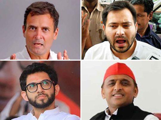 20200915 Rahul Gandhi, Tejaswi Yadav, Akhilesh Yadav and Aditya Thackeray