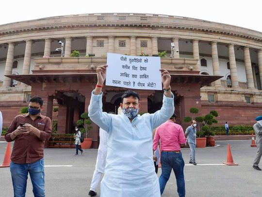 Congress protest parliament India