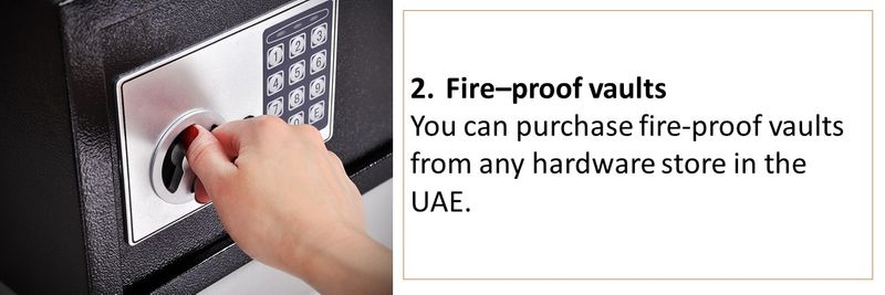 How to securely store your documents in the UAE