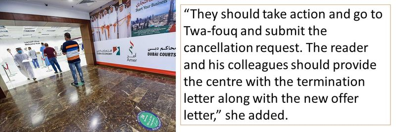 They should take action and go to Twa-fouq and submit the cancellation request.
