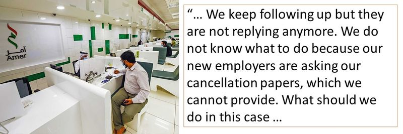 our new employers are asking our cancellation papers, which we cannot provide.