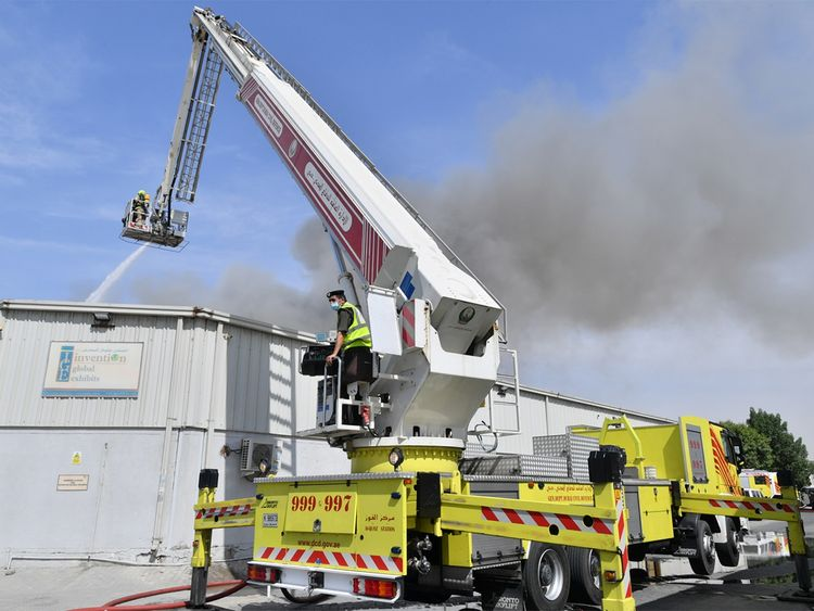 Fire breaks out at Al Quoz Industrial Area in Dubai