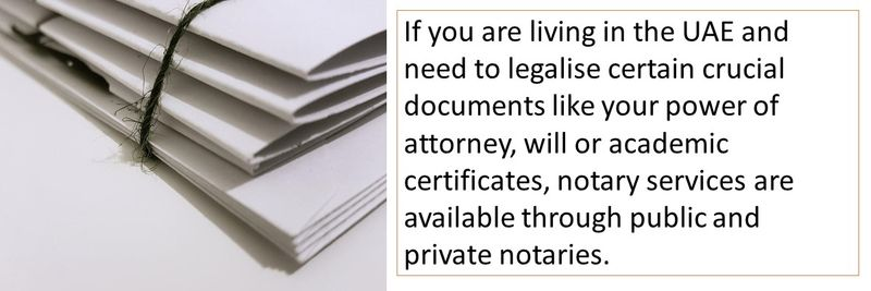 How can you legalise documents in the UAE?