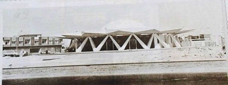 Old picture of Flying Saucer in Sharjah