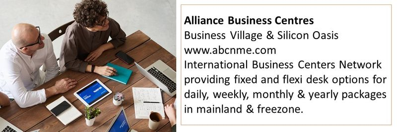 Alliance Business Centres Business Village & Silicon Oasis www.abcnme.com
