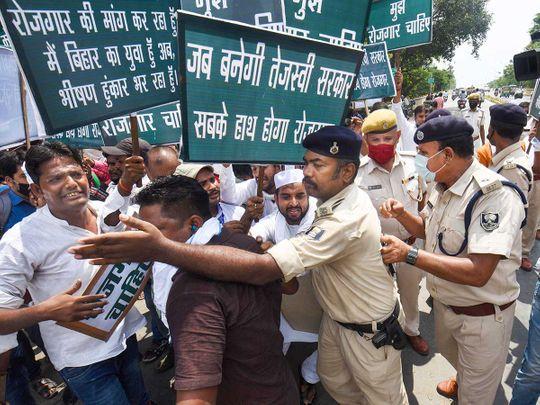 Bihar protests