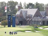 Golfers practise ahead of the 120th US Open at Winged Foot Golf Club in Mamaroneck, New York