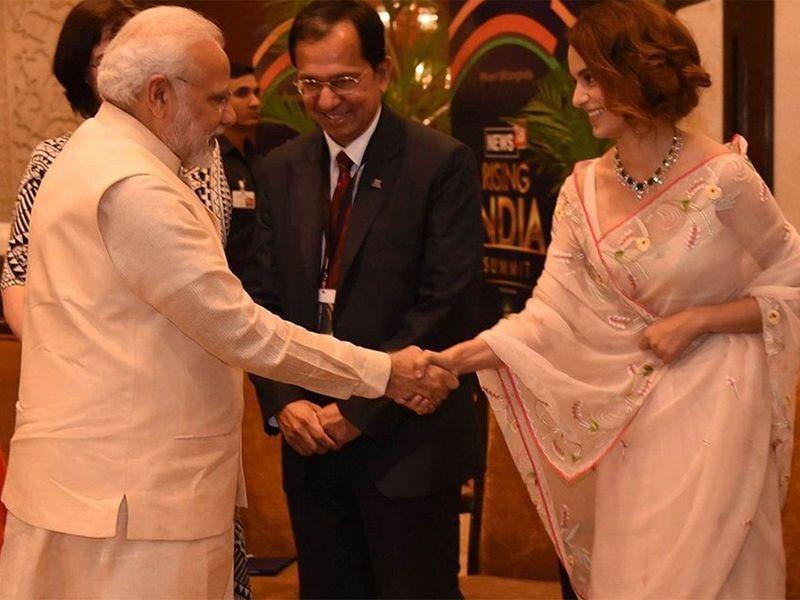 Kangana Ranaut with PM Narendra Modi