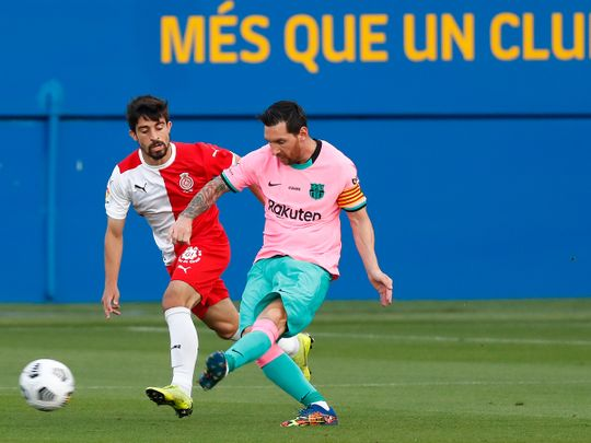 Lionel Messi back in action for Barcelona.