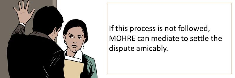 MOHRE can mediate to settle the dispute amicably