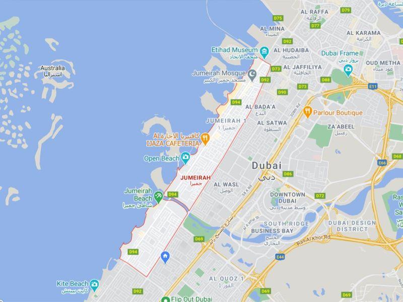 Map of Jumeirah