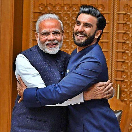 Ranveer Singh and Prime Minister Modi
