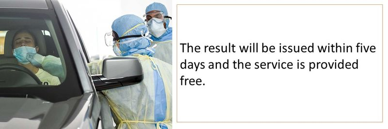 The result will be issued within five days and the service is provided free.