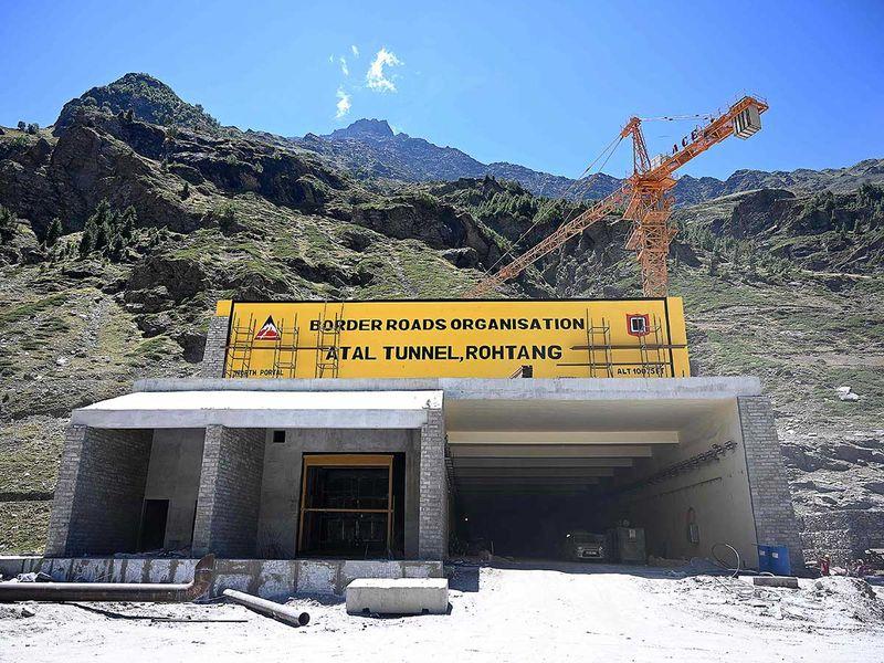 Atal Rohtang Tunnel Himachal Pradesh India