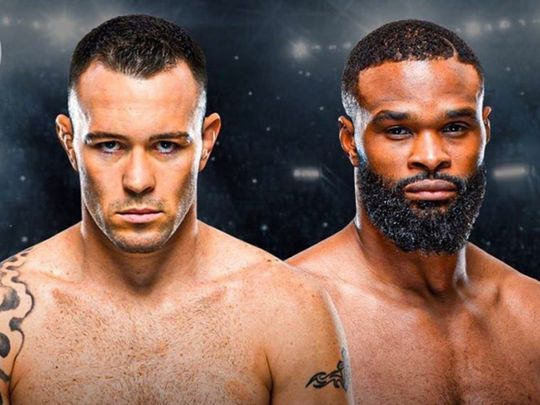 Colby Covington takes on Tyron Woodley in UFC Fight Night