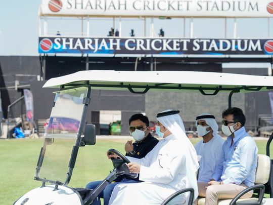 Jay Shah, the Secretary of the Board of Control for Cricket in India (BCCI), visited the Sharjah Cricket Stadium on Friday