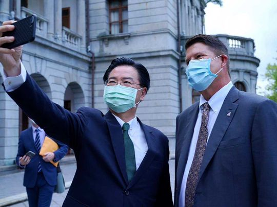 Taiwan's Foreign Minister Joseph Wu  US Under Secretary of State Keith Krach