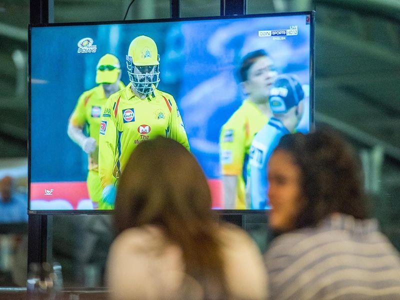 Fans during Mumbai Indians v Chennai Super Kings