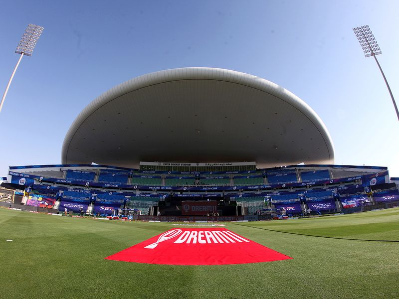 General view of the Sheikh Zayed Stadium in Abu Dhabi before the start of the match.