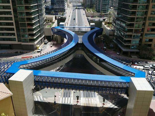 New footbridge in Dubai Marina