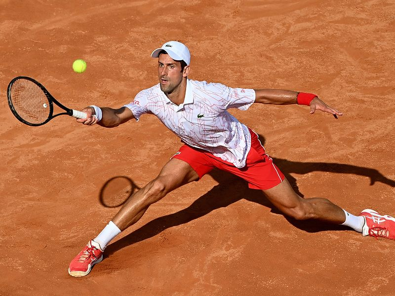 Novak Djokovic made it into the last eight in Rome